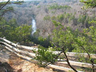 View from this Eno River Trail